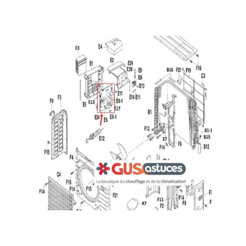 Thermostat d'ambiance filaire digital EKWCTRDI1V3 Daikin